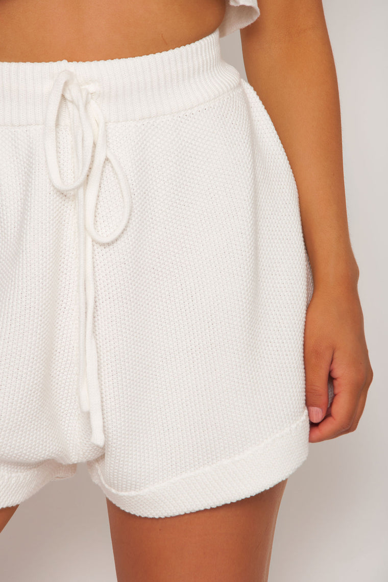 Laurel Knit Shorts - Off White