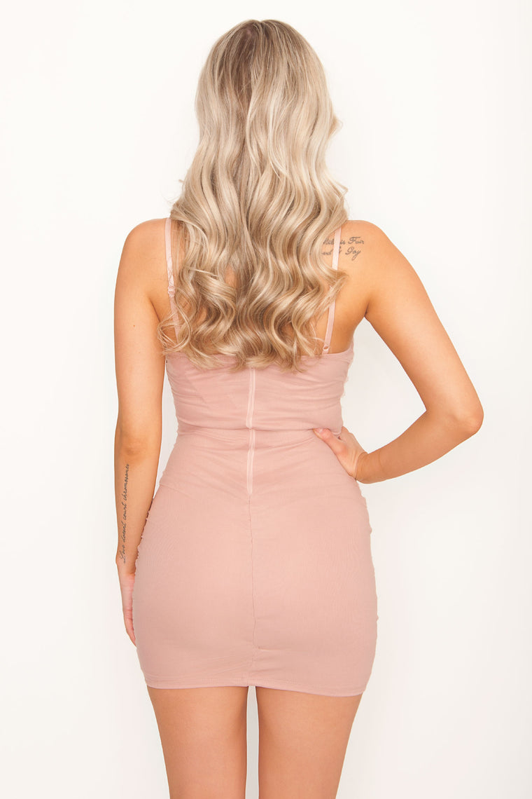 Risa Ruched Bodycon - Mauve