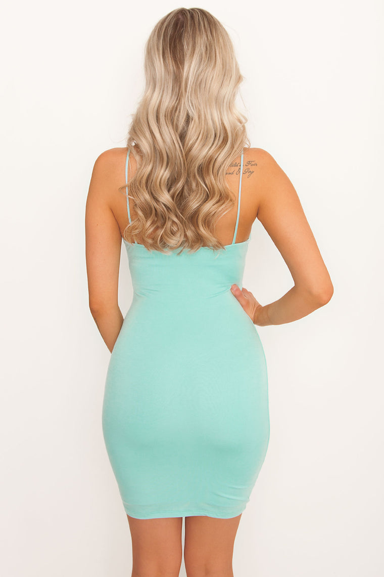 Angie Mini Dress - Mint