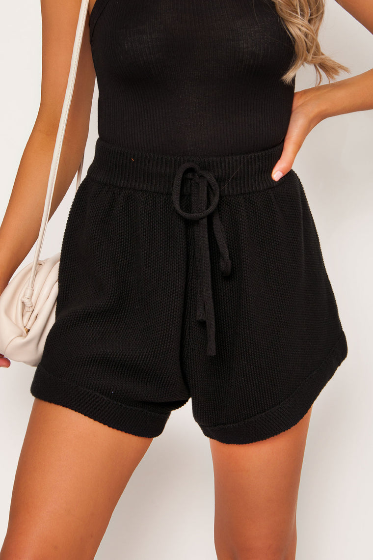 Laurel Knit Shorts - Black