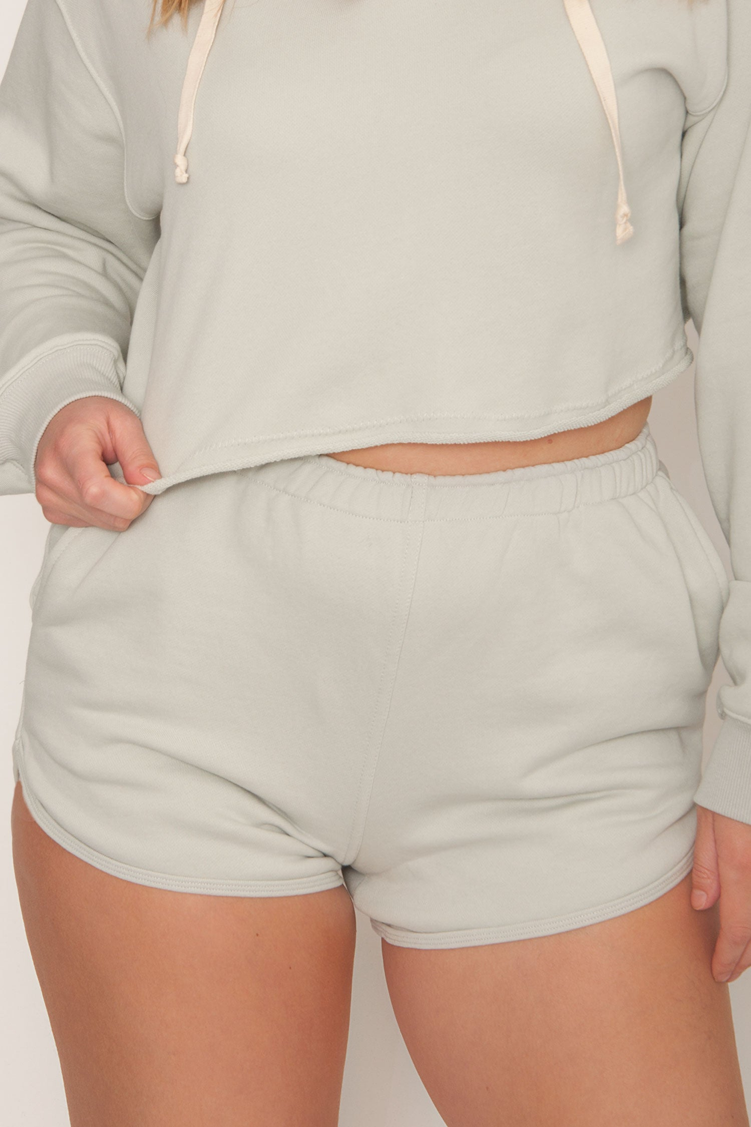 Essential French Terry Shorts - Sage