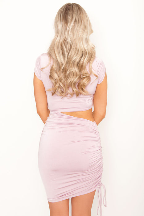 Roselin Mini Dress - Dusty Pink