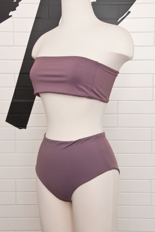 Vatu Bandeau Purple Swim Top - Alexa Pope