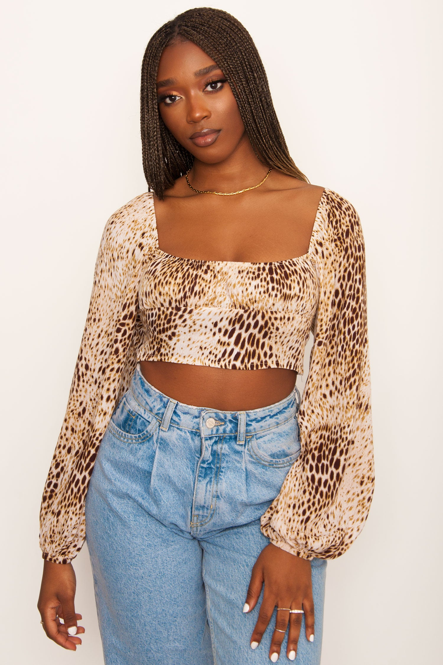 Motel Irene Long Sleeve Crop