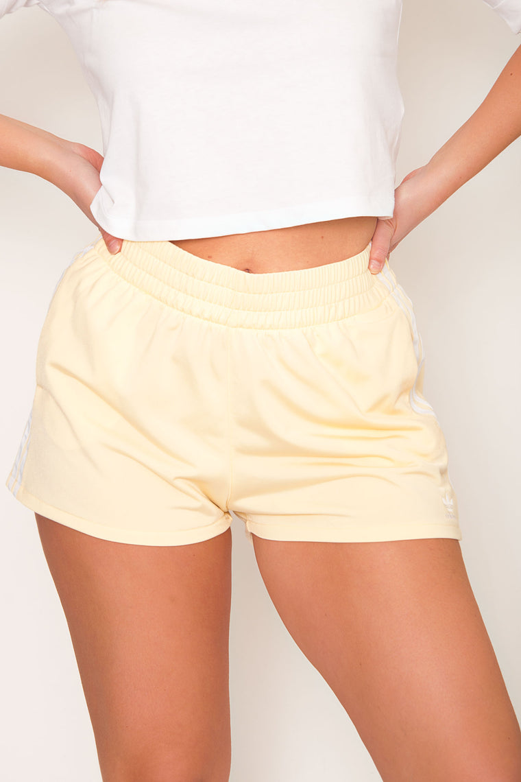 Adidas Originals 3 Stripe Short - Yellow/White