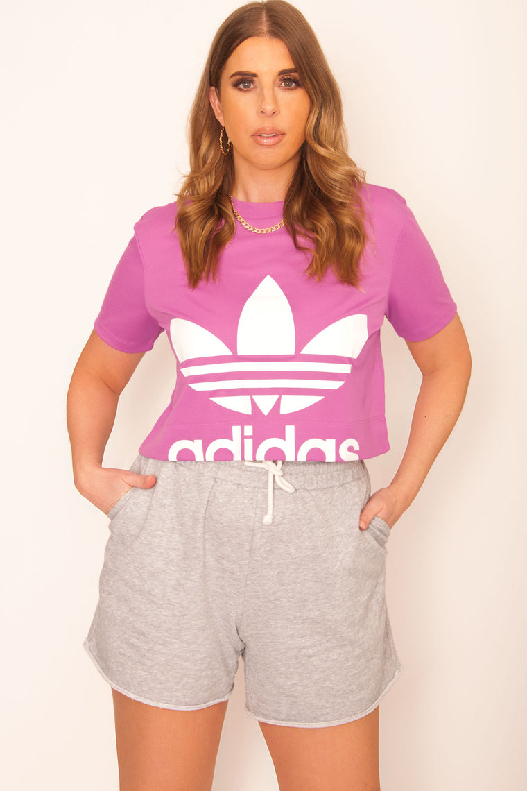 Adidas Originals Cropped Tee - Joy Orchid
