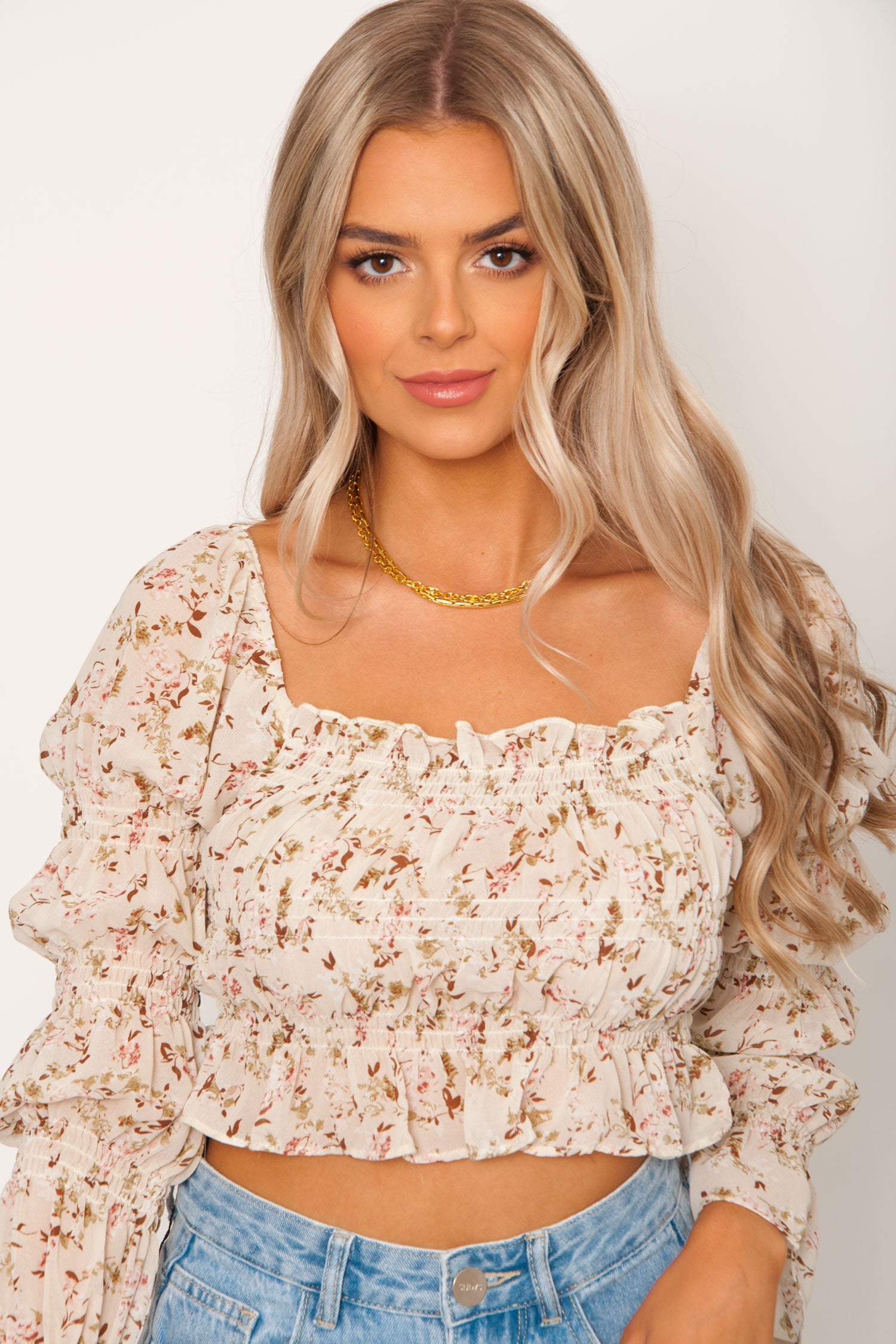 Mikoh Floral Top - Ivory