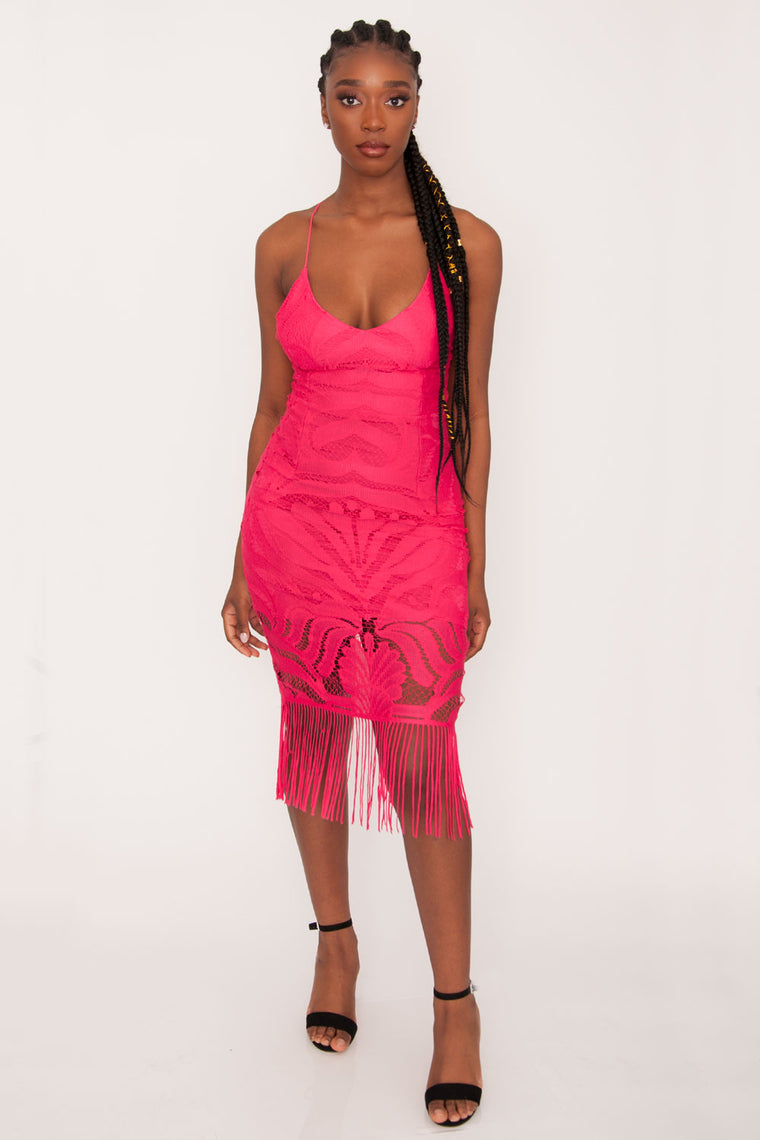 TwoSisters The Label Khaleesi Dress- Hot Pink