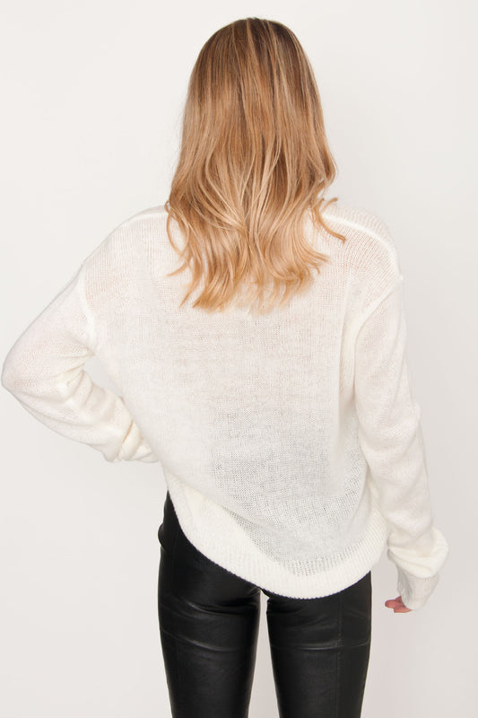 Dejavu Knit Sweater - Cream