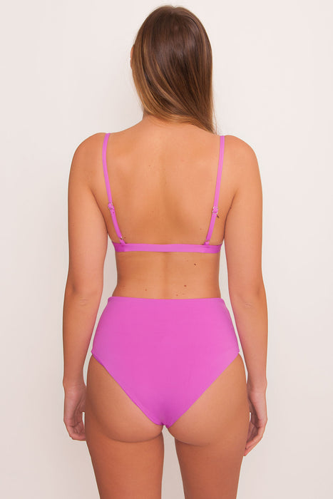 Over the Shoulder Triangle Top - Purple