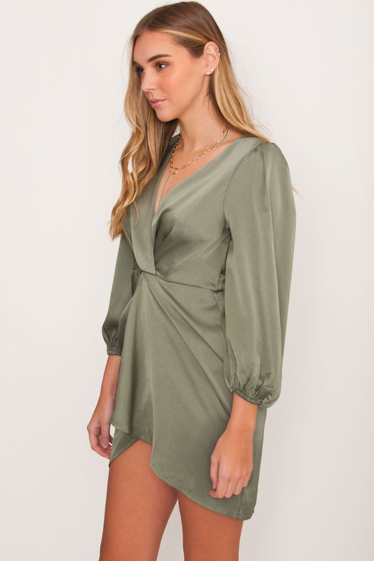 Quincy Satin Twist Dress