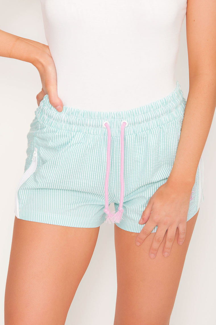 PRE ORDER Champion Seersucker Shorts - Light Sea Green