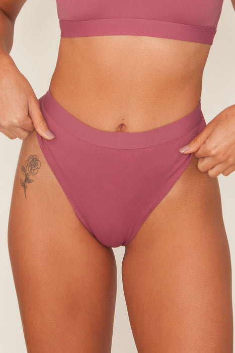 Moana High Cut Mauve Swim Bottom (Online Only)