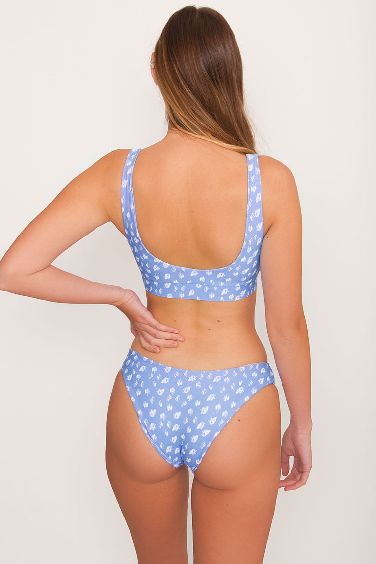 Kulani Full Coverage Bikini Bottom - Snow Leopard