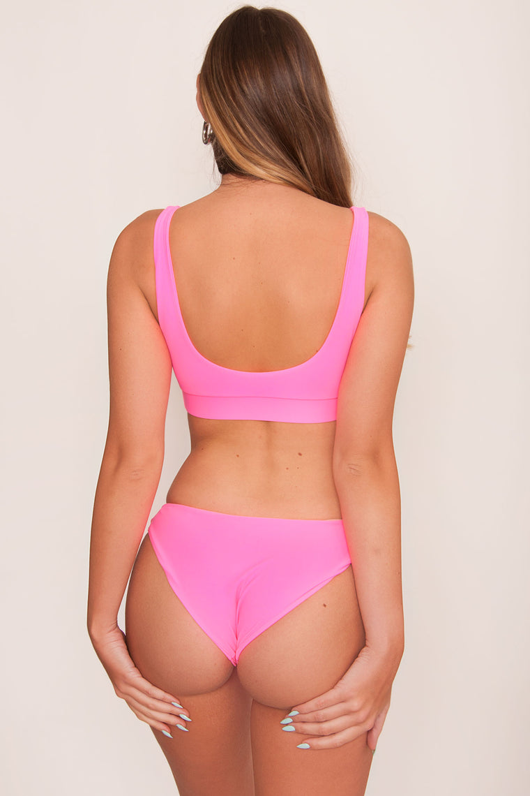Kulani Full Coverage Bikini Bottom - Watermelon