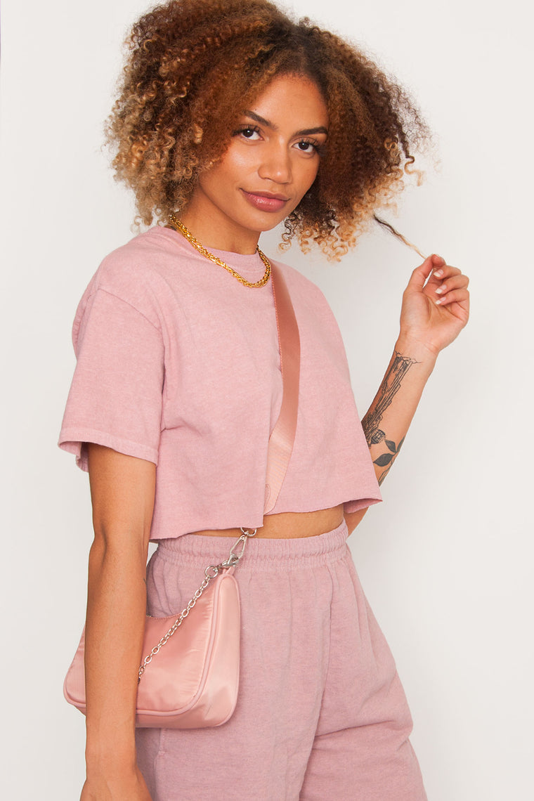 GKA Crop Washed Tee - Pink