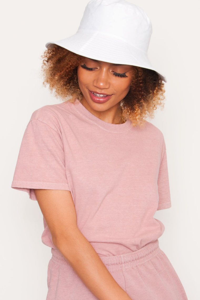 GKA Full Length Washed Tee - Pink
