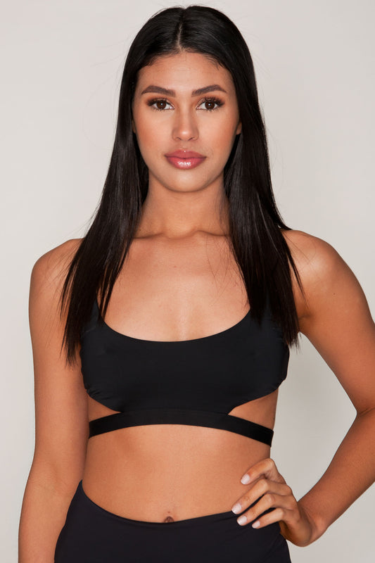 Sumatra Black Cut-Out Top