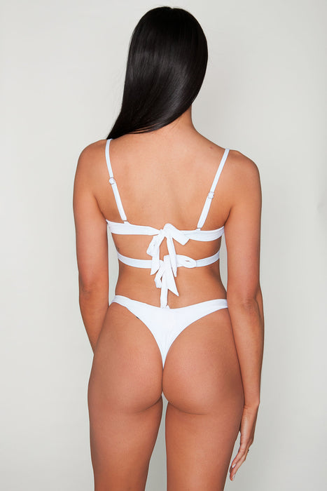 Koro White Thong Bottom