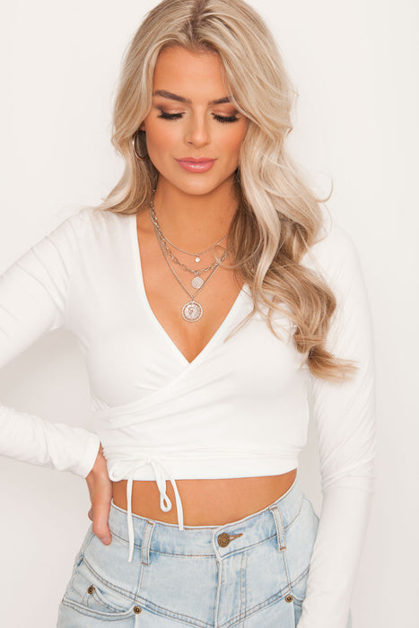 Sundae Wrap Top - White