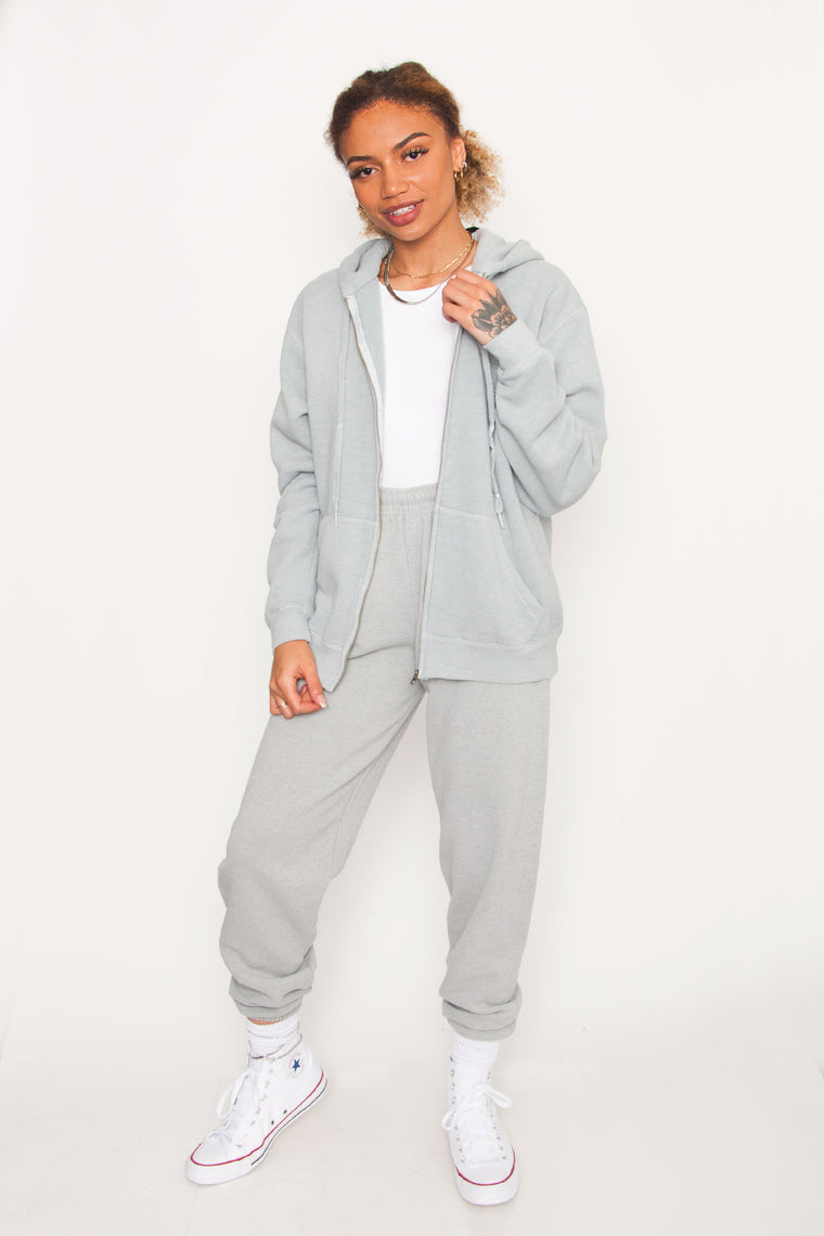GKA Washed Zip-Up - Sage