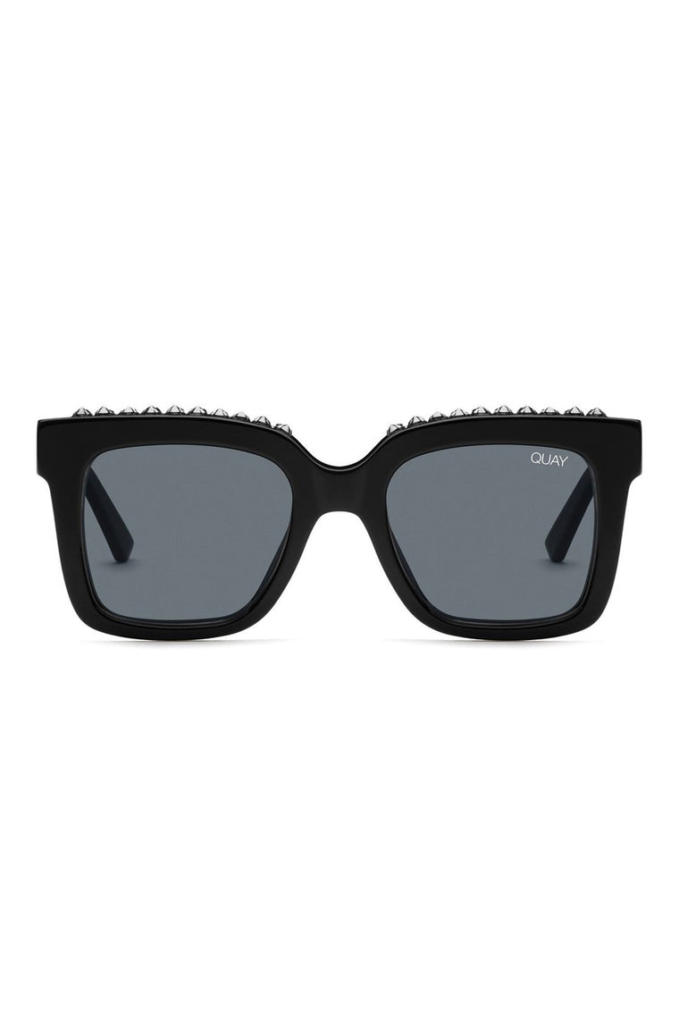 Quay Icy Sunglasses Blk/Smoke