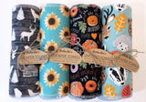 Unpaper Towels--24 count--Fall Woodland Animal Print--Porter Lee's