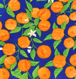 Unpaper Towels--24 count--Navy Blue Vintage Oranges Print--Porter Lee's