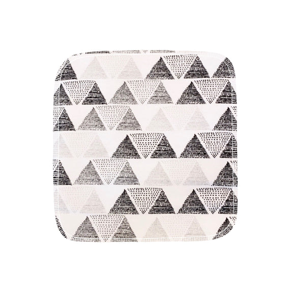 Unpaper Towels--24 count--Shades of Gray Triangles Print--Porter Lee's