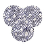 "Reusable 3"" Face Rounds--Set of 10--Navy & White Diamonds--Cotton Flannel--Porter Lee's"