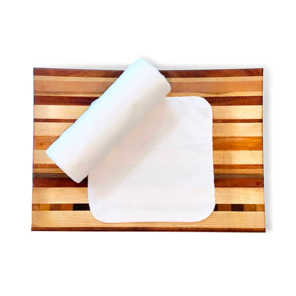 Unpaper Towels--Solid White--Cloth Napkins--Reusable Paper Towels--Porter Lee's