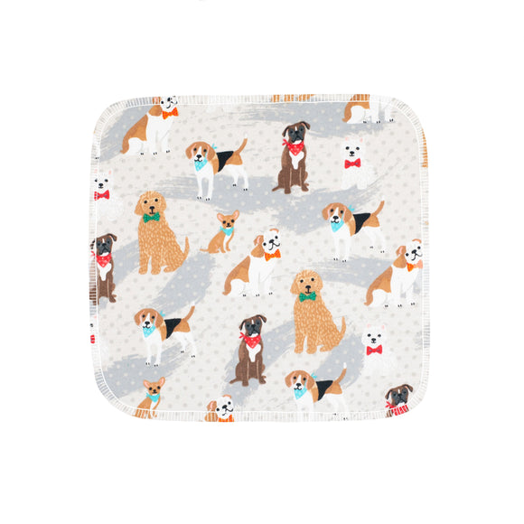 Unpaper Towels--24 count--Dogs on Dots Print--Porter Lee's