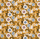 Unpaper Towels--24 count—Floral On Mustard Print--Porter Lee's