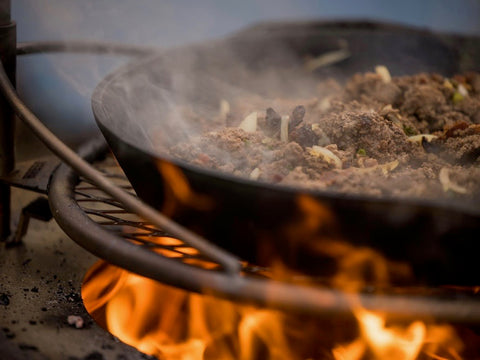 Venison Recipes - Venison Chili Over the Fire