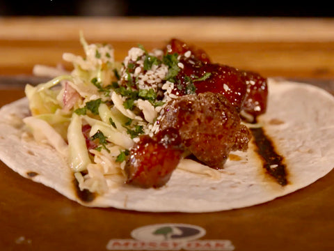 Wild Boar Recipes - Sticky Wild Boar Belly Tacos