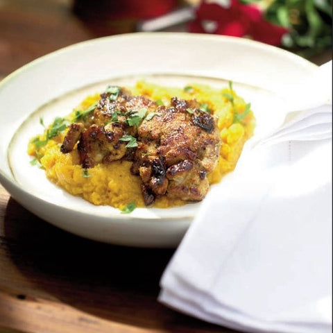 Quail and Pheasant Recipes - Pan Fried Quail Over Mashed Sweet Potatoes
