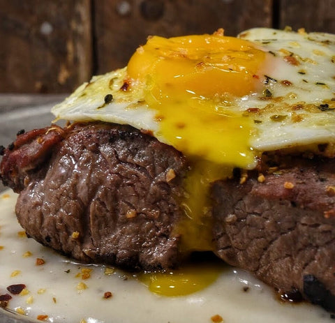 Venison Recipes - Elk Venison Steak and Eggs