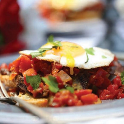 Venison Recipes - Western Venison Open-Faced Sandwich with Fried Egg