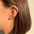 LUSTER Double Cross Ring / Ear cuff S - Gold