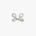 LUSTER Double Cross Ring / Ear cuff