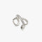 LUSTER Double Cross Ring / Ear cuff S - Silver
