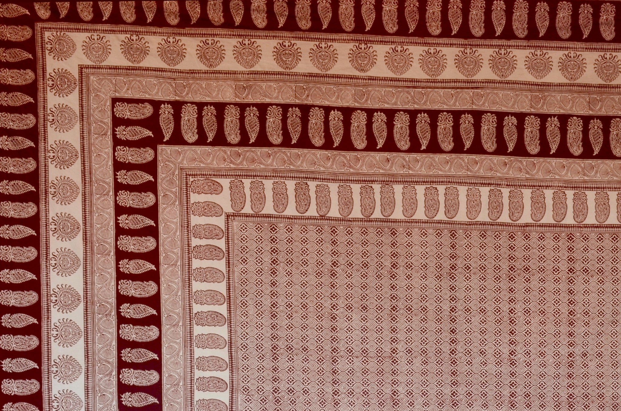 Brown bed sheet textures -  Bagh Printed Bed Sheet Lal10 Com