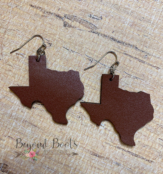 Texas Leather Earrings