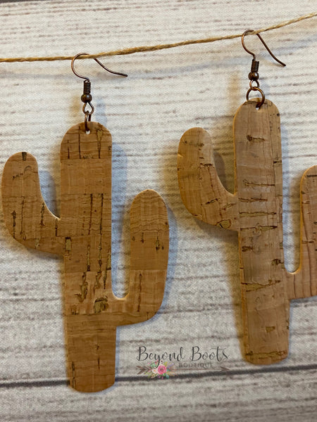 Cactus Cork Earrings