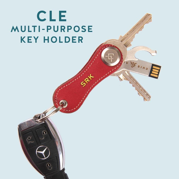 Cle Leather Key Holder (Customisable) - Cuir Ally Smart Goods