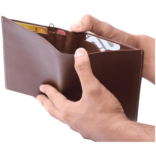 Voyager Leather Wallet + Anti-Loss Electronic Smart Tech - Cuir Ally Smart Goods