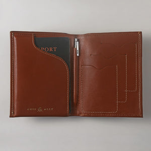Voyager Passport Travel Wallet + Pen + Notepad Cuir Ally