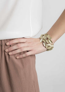 Bracelet Maison 203 - Leaves or blanc