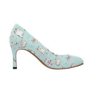 Cat Print Women's High Heel Pumps