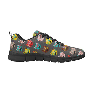 Cat Print Women's Breathable Sneakers